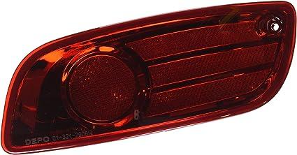 Depo 321-2904R-US Reflector HYUNDAI SANTA FE 10-12 REAR LAMP PASSENGER SIDE