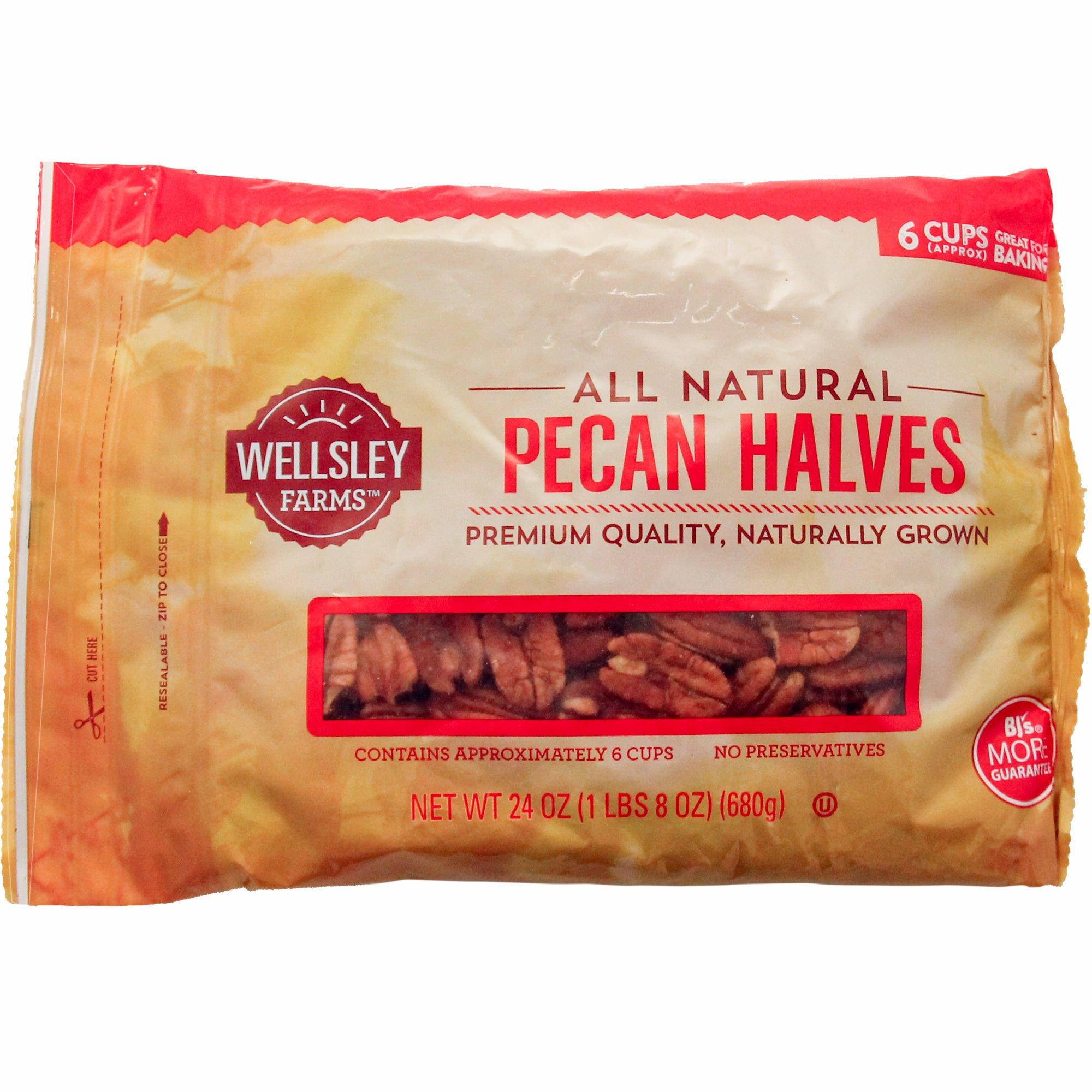 Wellsley Farms Pecan Halves, 24 oz.(pack of 2)