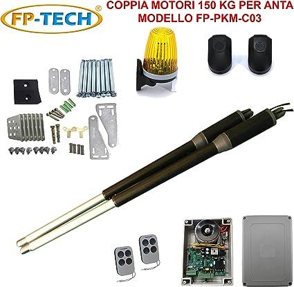 Cancello Elettrico A Due Ante.Kit Automazione Cancello Battente 2 Ante Motore Apricancello