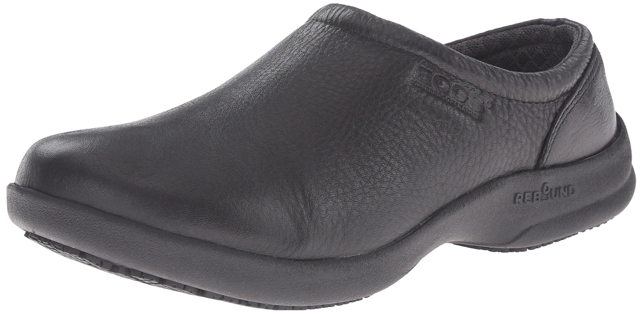 Bogs Women's Ramsey Leather Slip Resistant Work Shoe, Black, 7 M US