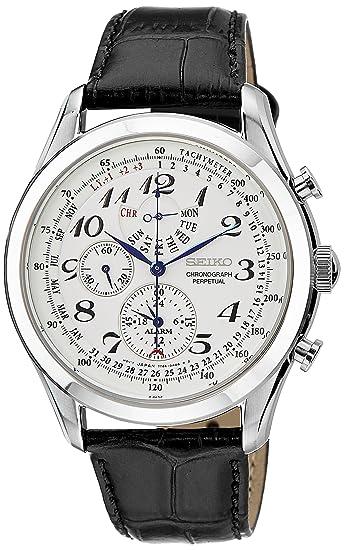 Seiko Dress Chronograph White Dial Men's Watch-SPC131P1 Men at amazon