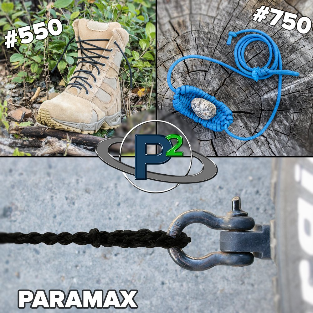 Paracord Planet 95, 275, 325, 425, 550, 750, and Para-Max Paracord – Various Solid Colors – Available in Lengths of 10, 25, 50, 100, and 250 Feet of USA Made Cord by PARACORD PLANET (Image #5)