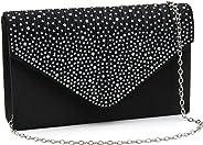 Milisente Clutch Purses for Women, Glitter Rhinestone Wedding Evening Purse Crystal Envelope Crossbody Shoulder Clutch Bags