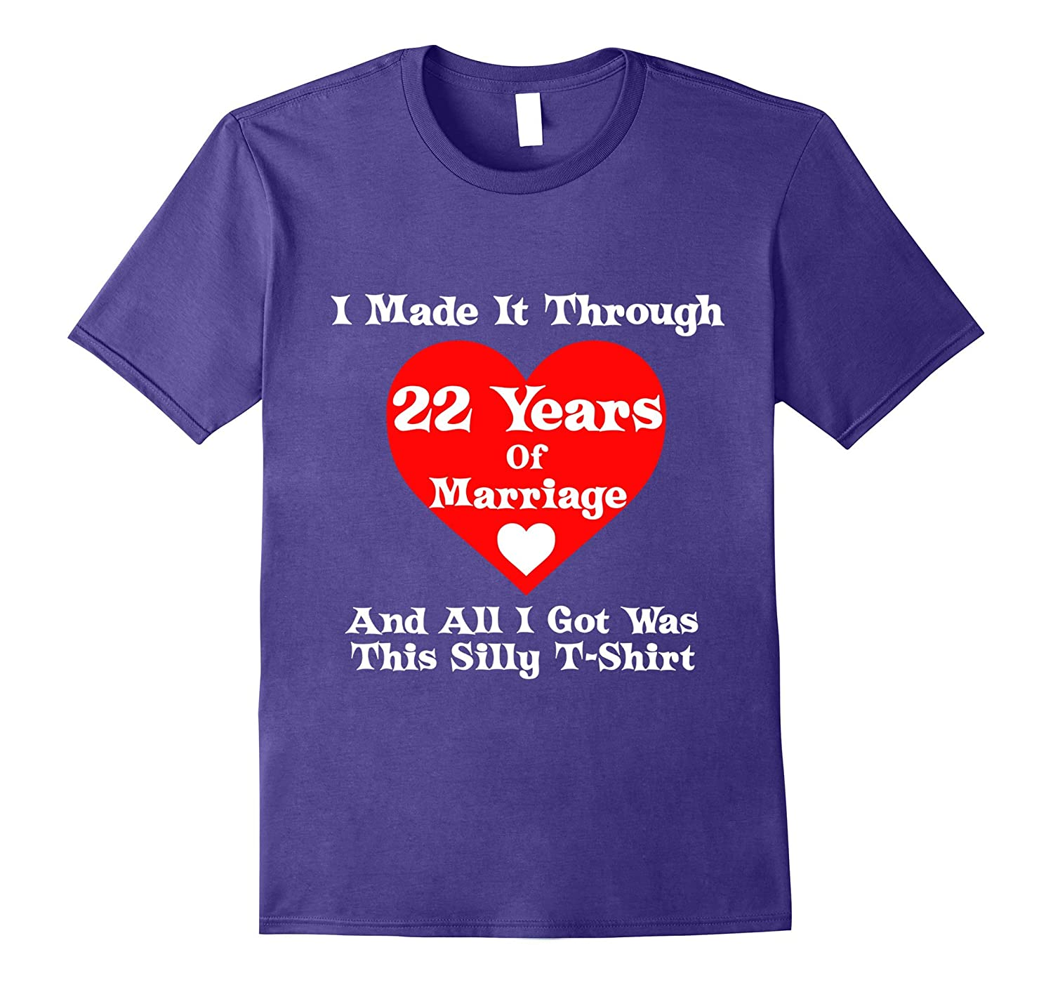 22nd Wedding Anniversary Gift Marriage T-Shirt for Men Women-4LVS