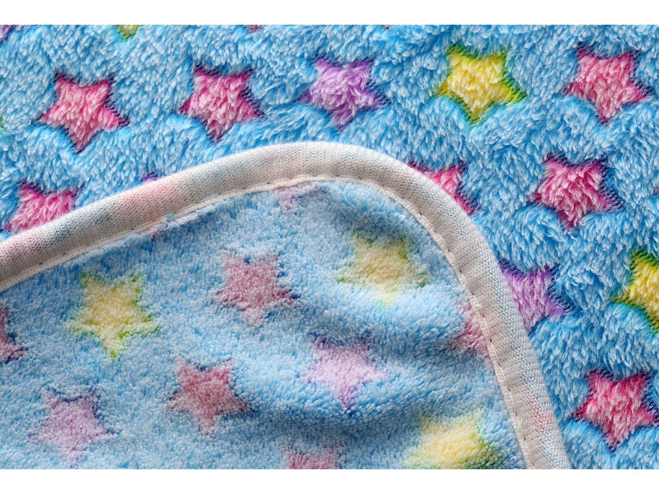 luciphia 1 Pack 3 Blankets Super Soft Fluffy Premium Fleece Pet Blanket Flannel Throw for Dog Puppy Cat Star Small by luciphia (Image #8)