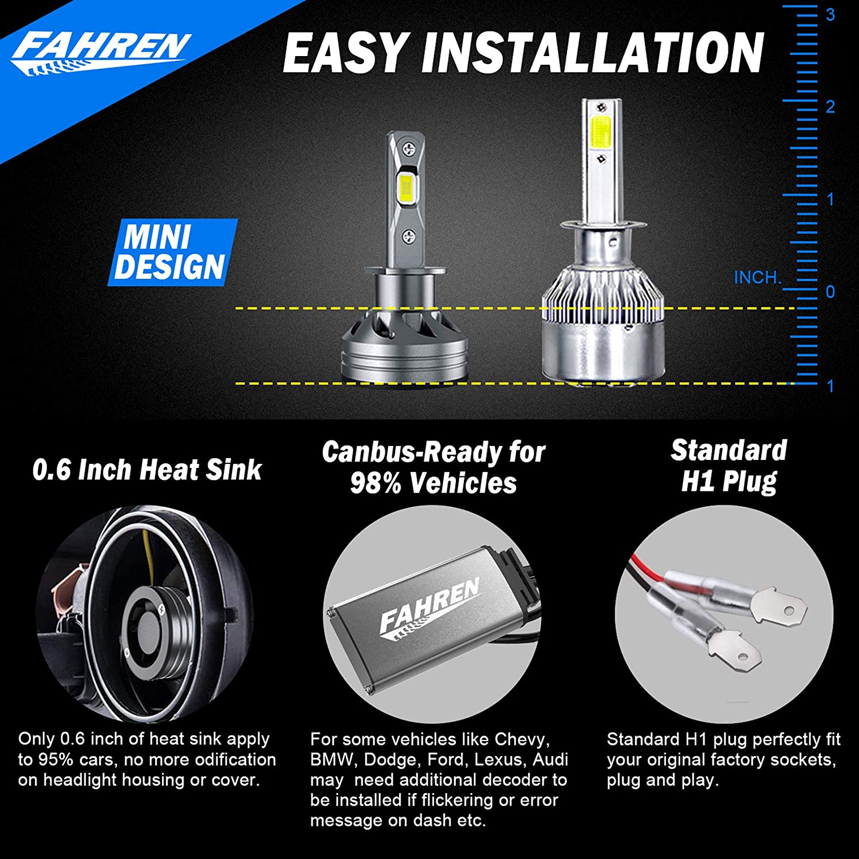 Headlight & Tail Light Conversion Kits Fahren H1 LED Headlight ...