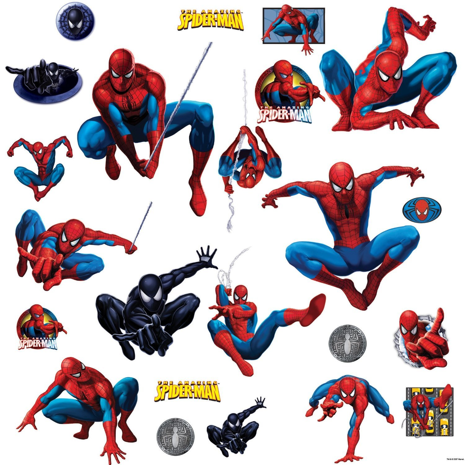 Amazon.com: RoomMates RMK1045SCS Amazing Spider Man Peel U0026 Stick Wall Decals:  Home Improvement