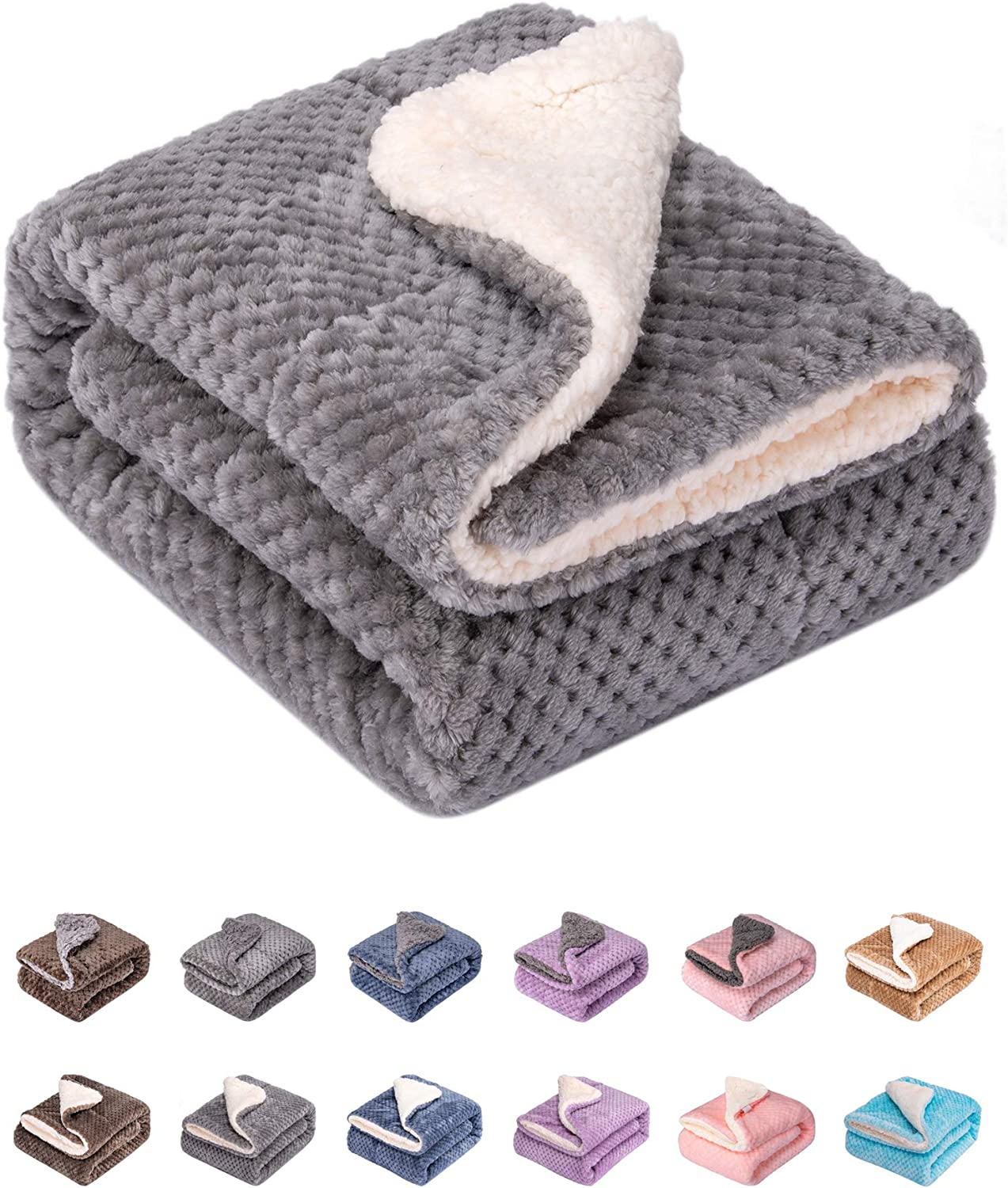 """Fuzzy Dog Blanket or Cat Blanket or Pet Blanket, Warm and Soft, Plush Fleece Receiving Blankets for Dog Bed and Cat Bed , Couch, Sofa, Travel and Outdoor, Camping (Blanket (32"""" x 40""""), DW-Flint Gray): Kitchen & Dining"""