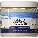 Earth's Living Calcium Bentonite Clay Powder for Internal and External Detox Healing, BPA Free Plastic Jar, Wellness, 16 oz.