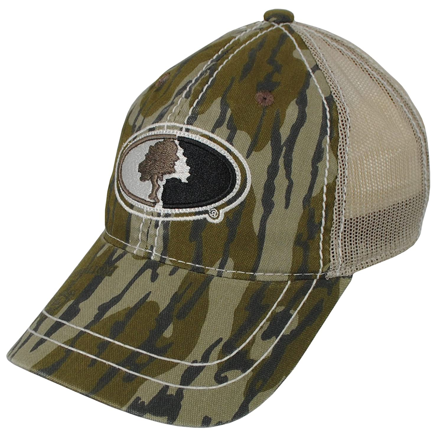 adea7f463d01e Amazon.com : Mossy Oak Camo Mesh Back Hat with Adjustable Snap Back in  Multiple Camouflage Patterns : Sports & Outdoors