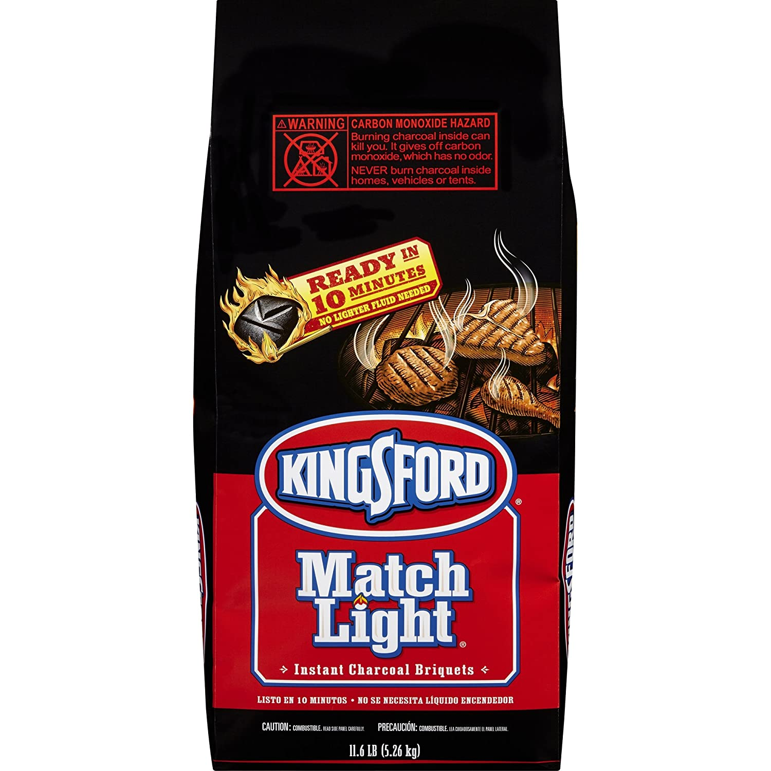 Charcoal Grill Briquet Kingsford Match Light Instant Charcoal Briquettes 11.6 lb 2pk