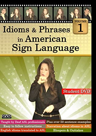 Idioms & Phrases in American Sign Language (DVD cover art)