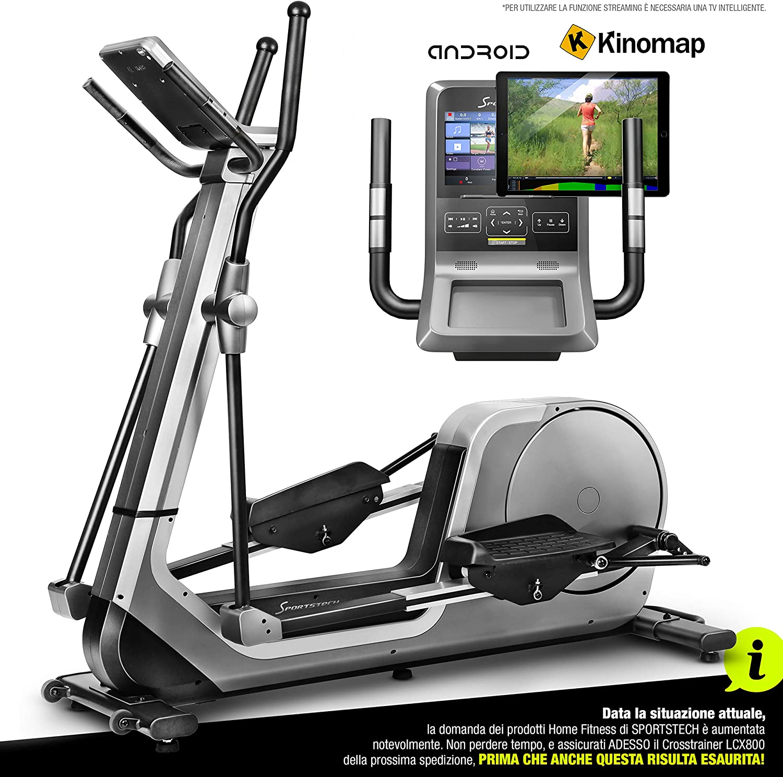 Sportstech Bicicleta elíptica LCX800, Luxus Pantalla Android ...
