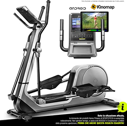 Sportstech Bicicleta elíptica LCX800, Luxus Pantalla Android ...