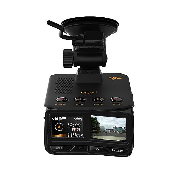 Detector de trampas de velocidad láser/radar/GPS GTX200 GPS Aguri Fusion con cámara integrada con tablero HD y actualizaciones inalámbricas Bluetooth.