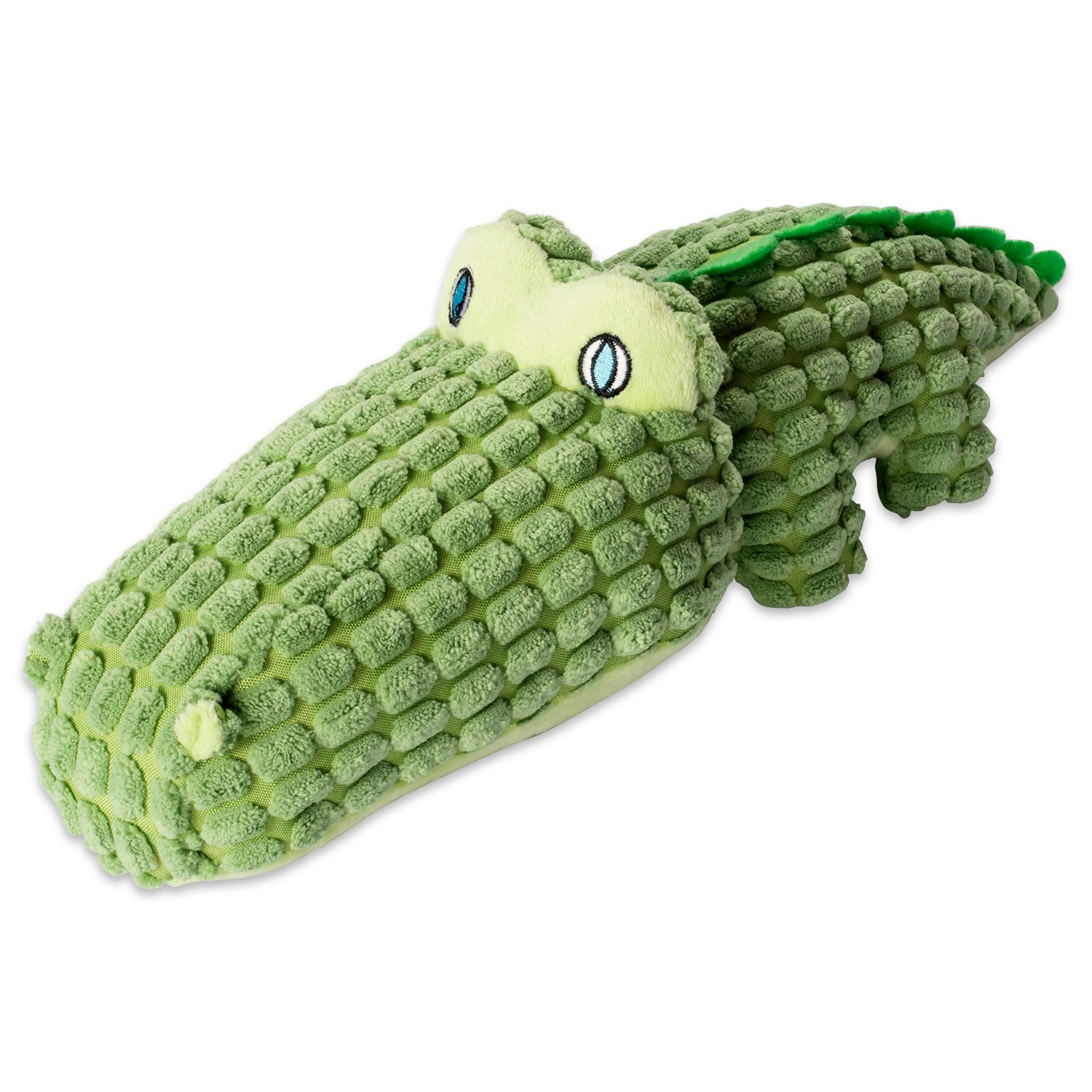 DII Bone Dry Jungle Friends Squeaking Dog Toy, 1 Piece Sam Alligator Plush Pet Toy for Small, Medium and Large Dogs
