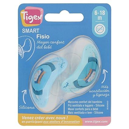 Tigex Smart - Chupete fisiológico de silicona, 2 unidades ...