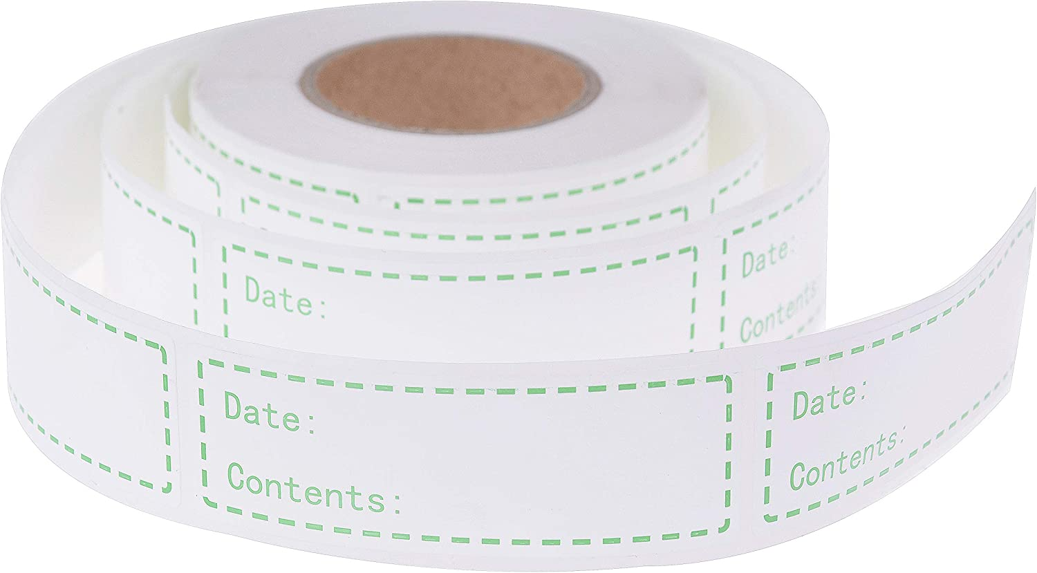 500 Pieces Removable Food Storage Labels Freezer Labels 1x3in Food Storage Stickers Refrigerator Freezer Labels Adhesive Paper Labels(1 Roll,Green)