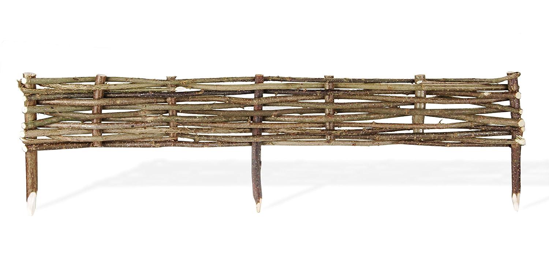 Bordure en bois tresse for Bordure en noisetier tresse