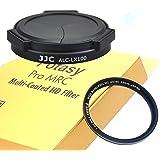 JJC Black ACLX100 Auto SELF-RETAINING Lens Cap for Panasonic LX100 LX100II Leica D-LUX, Lumix LX100 Auto Lens Cap, LX100 II A