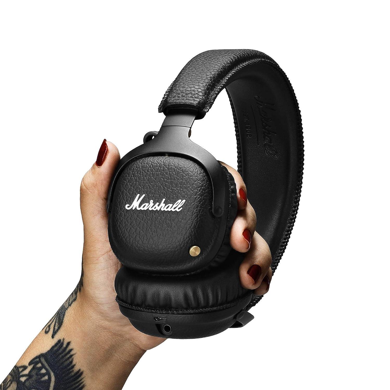 Noir Marshall Mid A.N.C Casque Bluetooth /à R/éduction de Bruit