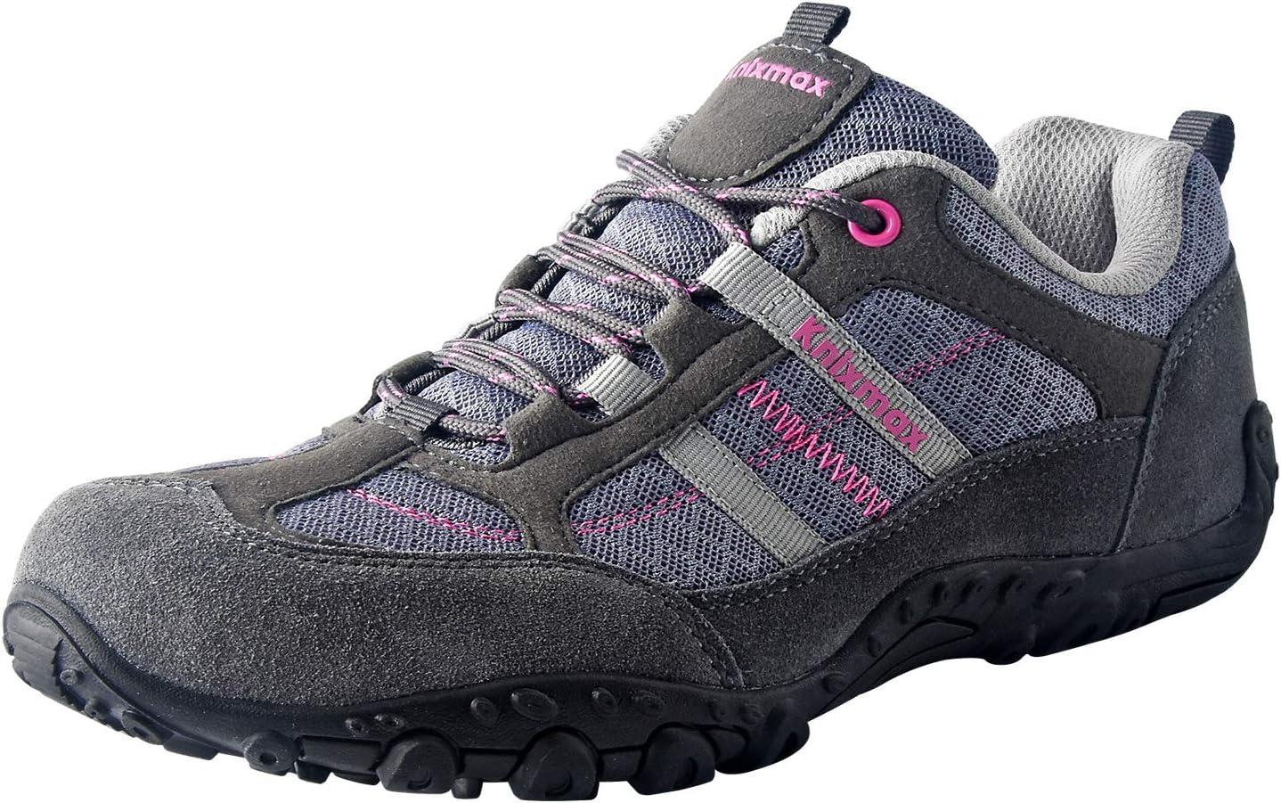 Knixmax Women's Hiking Shoes Lightweight Non-Slip Climbing Trekking Sneakers for Woman Camping Backpacking Shoe: Sports & Outdoors