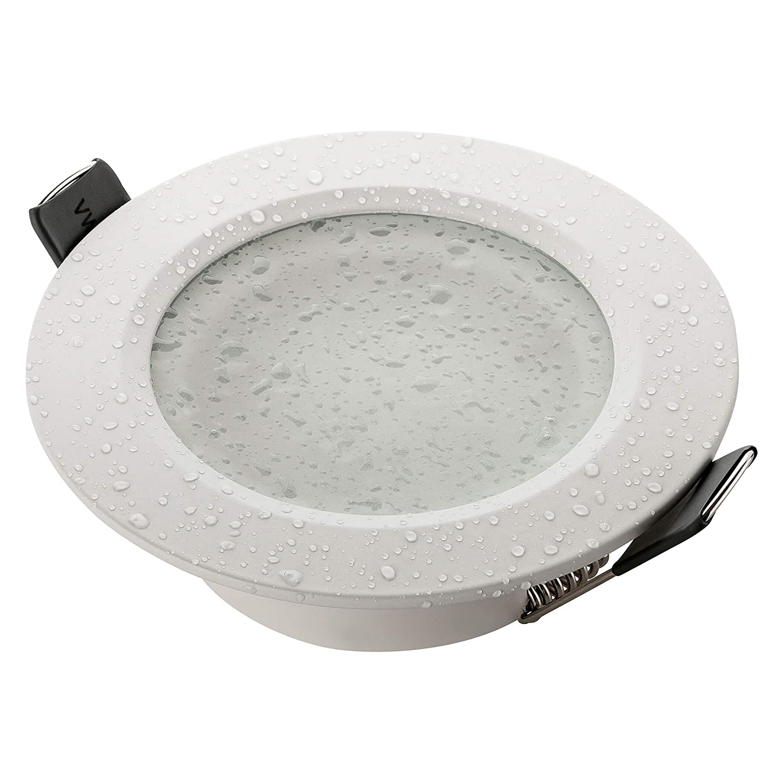 INCL IP44 Alu Mat Blanc LED//Halogene sebson/® Spot encastrable Salle de Bain Type 15 Culot GU10