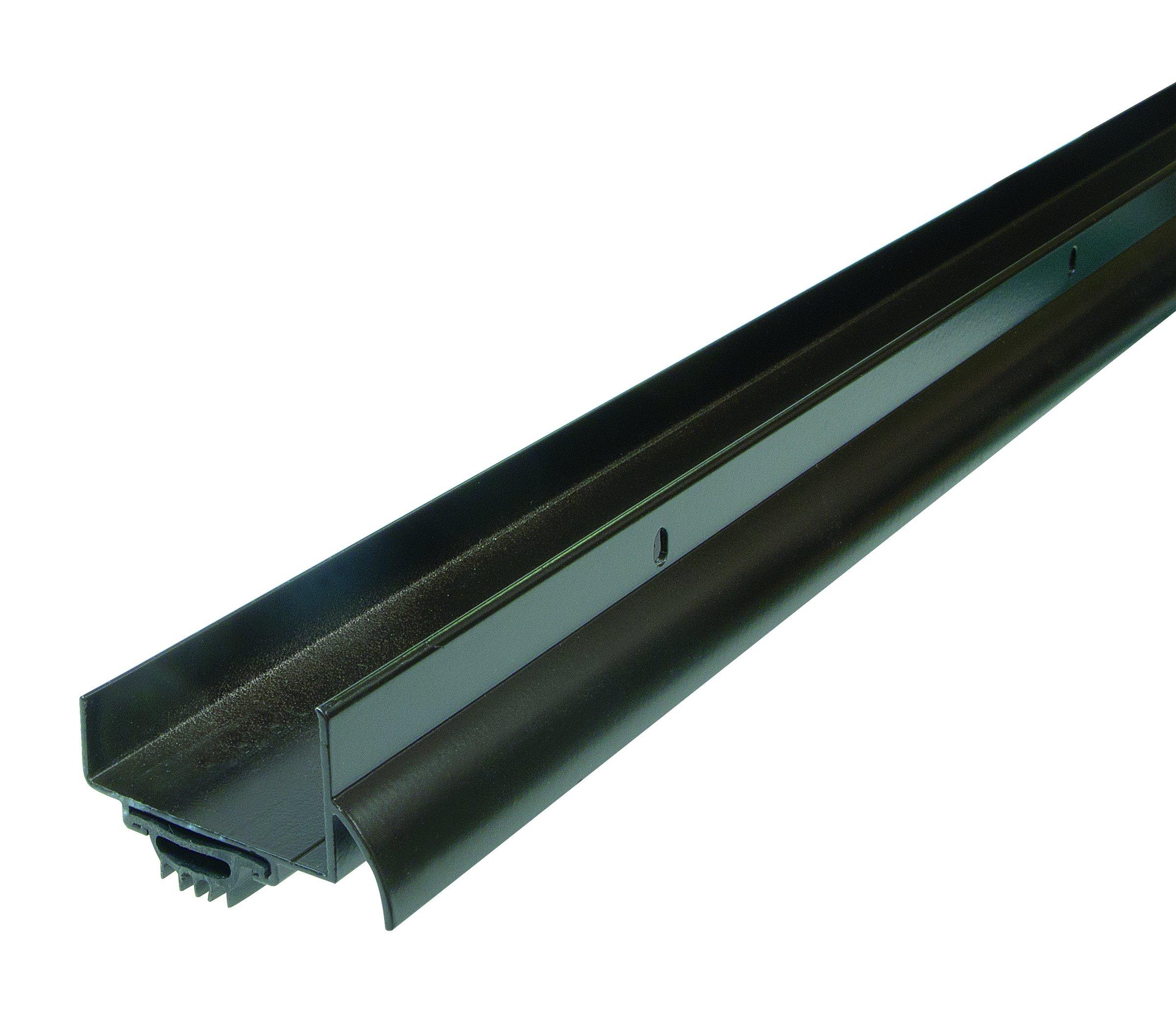 WJ Dennis & Company 742B Premium U-Shaped Aluminum with Drip Cap Door Bottom, 2 1/4-Inch x 1 1/2-Inch x 36-Inch, U-Shaped, Brown