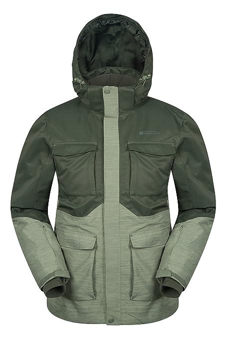 Mountain Warehouse Luna Mens Winter Ski Jacket - Waterproof Snow Coat Khaki  X-Small ac66fac6c