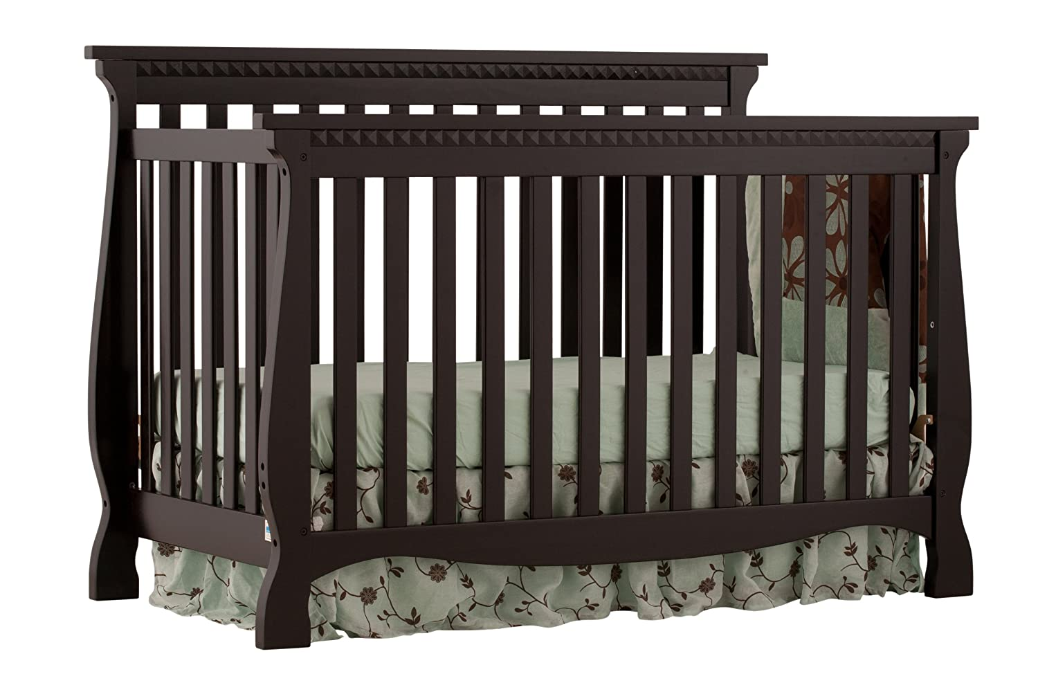 convertible crib vittoria avalon cribs drawer and tuscany free storkcraft cherry double shipping in piece dresser set nursery espresso