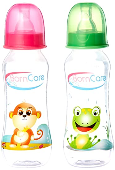 1c0c3e75b Amazon.com   BornCare Regular Easy Grip Feeding Bottle with Silicone Nipple  Fast Flow