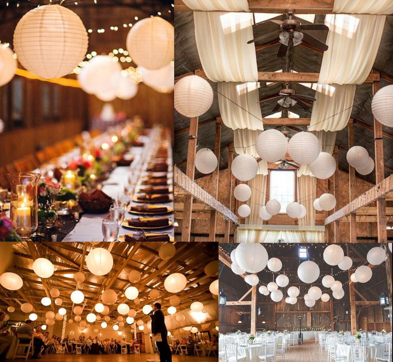 Weihnachten Haus ilauke Lampion Papier Laterne Papier Kugel wei/ß f/ür als Dekoration f/ür Hochzeiten Party etc