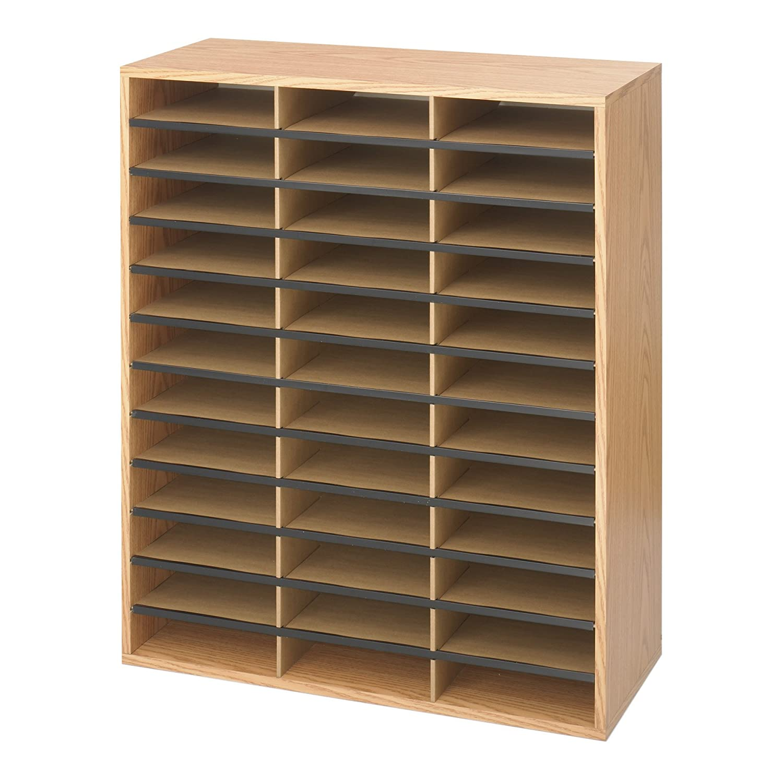 Safco - Libreria/Casellario in legno di quercia chiaro con 36 scomparti Safco Products 9403MO