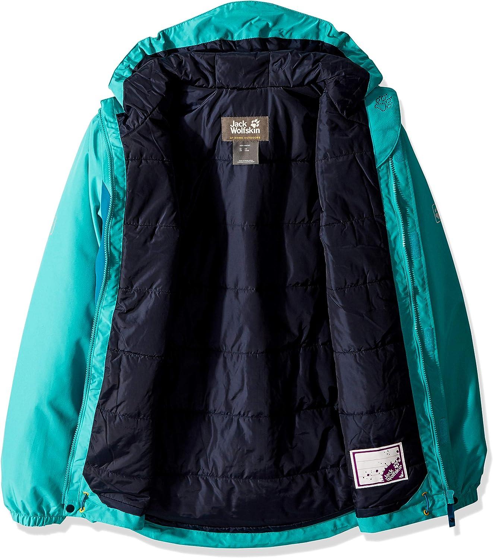 Jack Wolfskin Girl's G Kayak Falls Waterproof Insulated Jacket, Aquamarine, Size104(3-4)