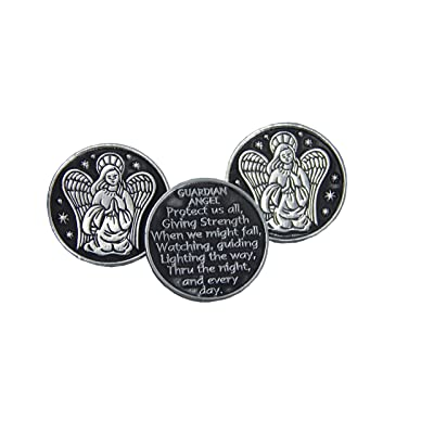 Guardian Angel Prayer Pocket Token - 3 Coins: Toys & Games
