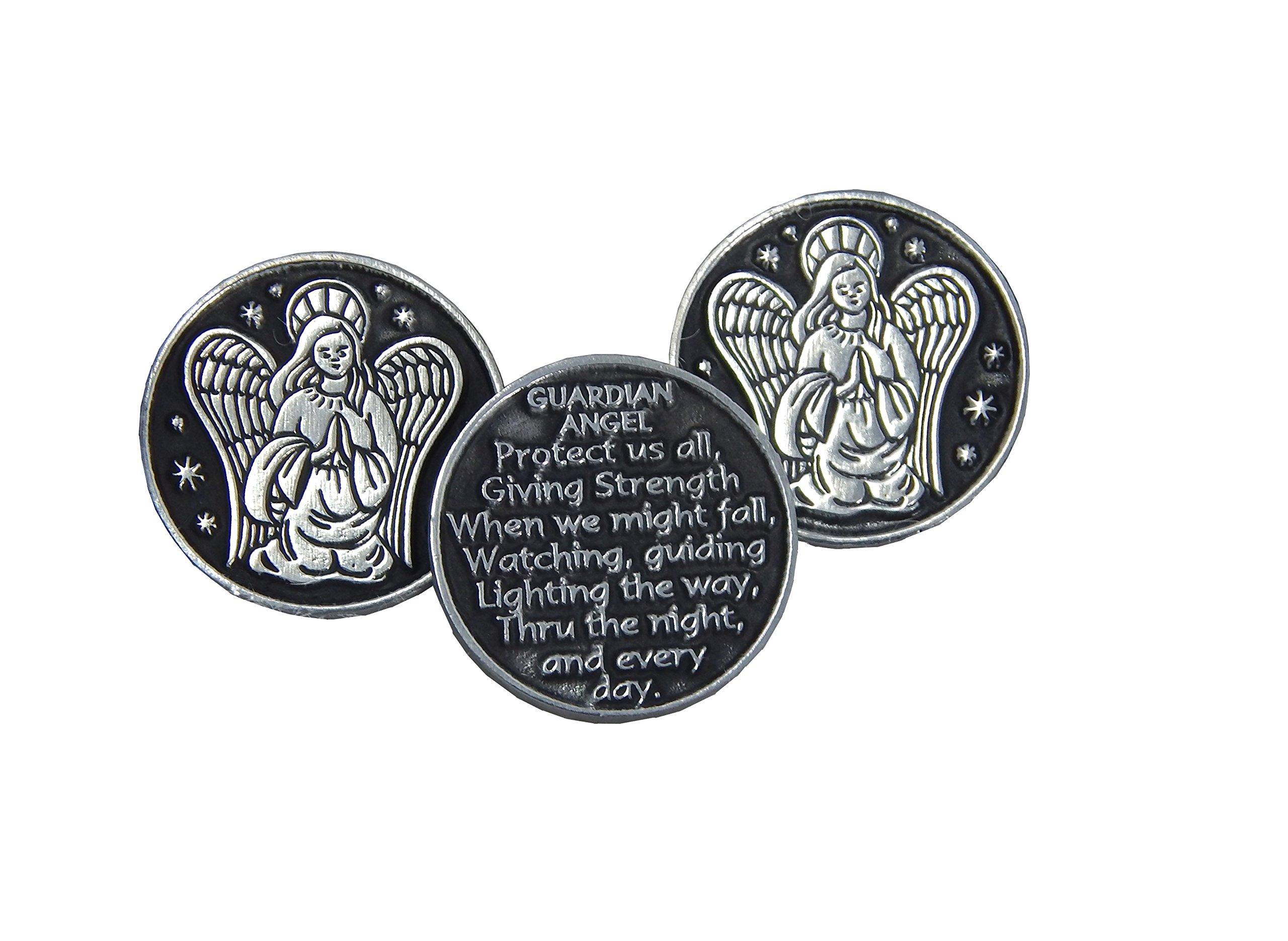 Guardian Angel Prayer Pocket Token - 3 Coins