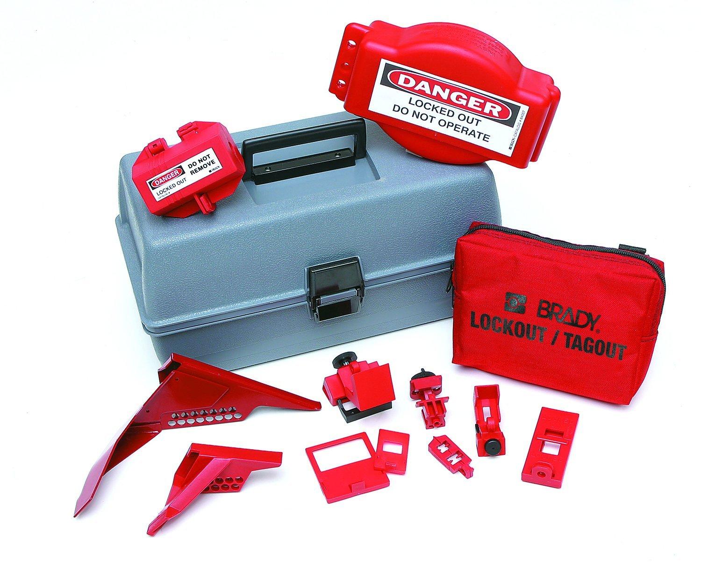 Brady Combination Lockout Toolbox Kit, Includes 2 Safety Padlocks by Brady