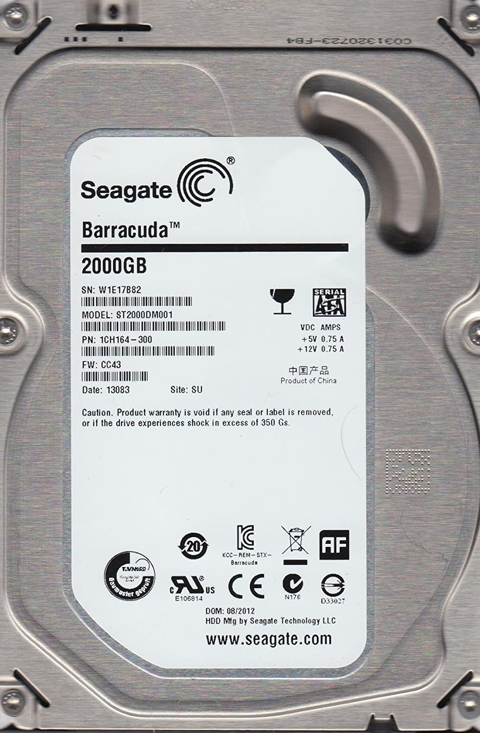 "2 TB 5900 RPM 3.5/"" Internal Hard Drive *New* Seagate ST2000DL001"