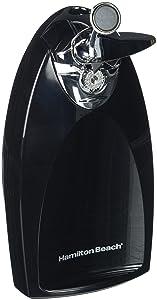 Hamilton Beach 76380Z Classic Chrome Heavyweight Can Opener, Black