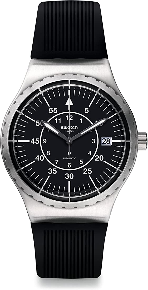 Swatch orologio da uomo analogico automatico con cinturino in plastica – yis403