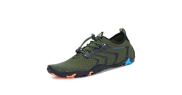 784c70c1eb1c katliu Mens Water Shoes Quick Dry Breathable Aqua Socks Womens Outdoor  Barefoot Skin for Beach