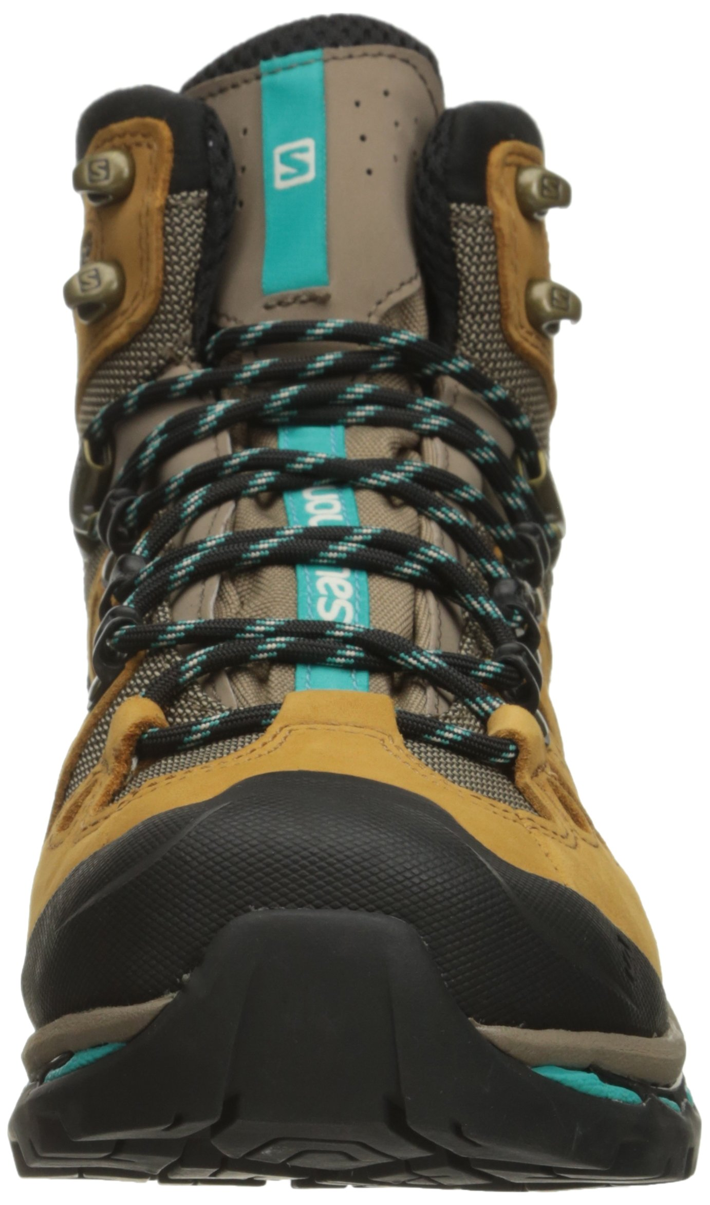 Salomon Women's Quest 4d 2 Gtx W Backpacking Boot, Shrew/Camel Gold Leather/Teal Blue Fabric, 8.5 M US by Salomon (Image #4)