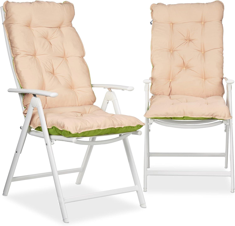 HxlxP115 Matelas intérieur Coussin jardin terrasse chaise x 10023473 cmgris x pour de 2 balcon 47 lot Relaxdays 9 fauteuil n0w8vmNO