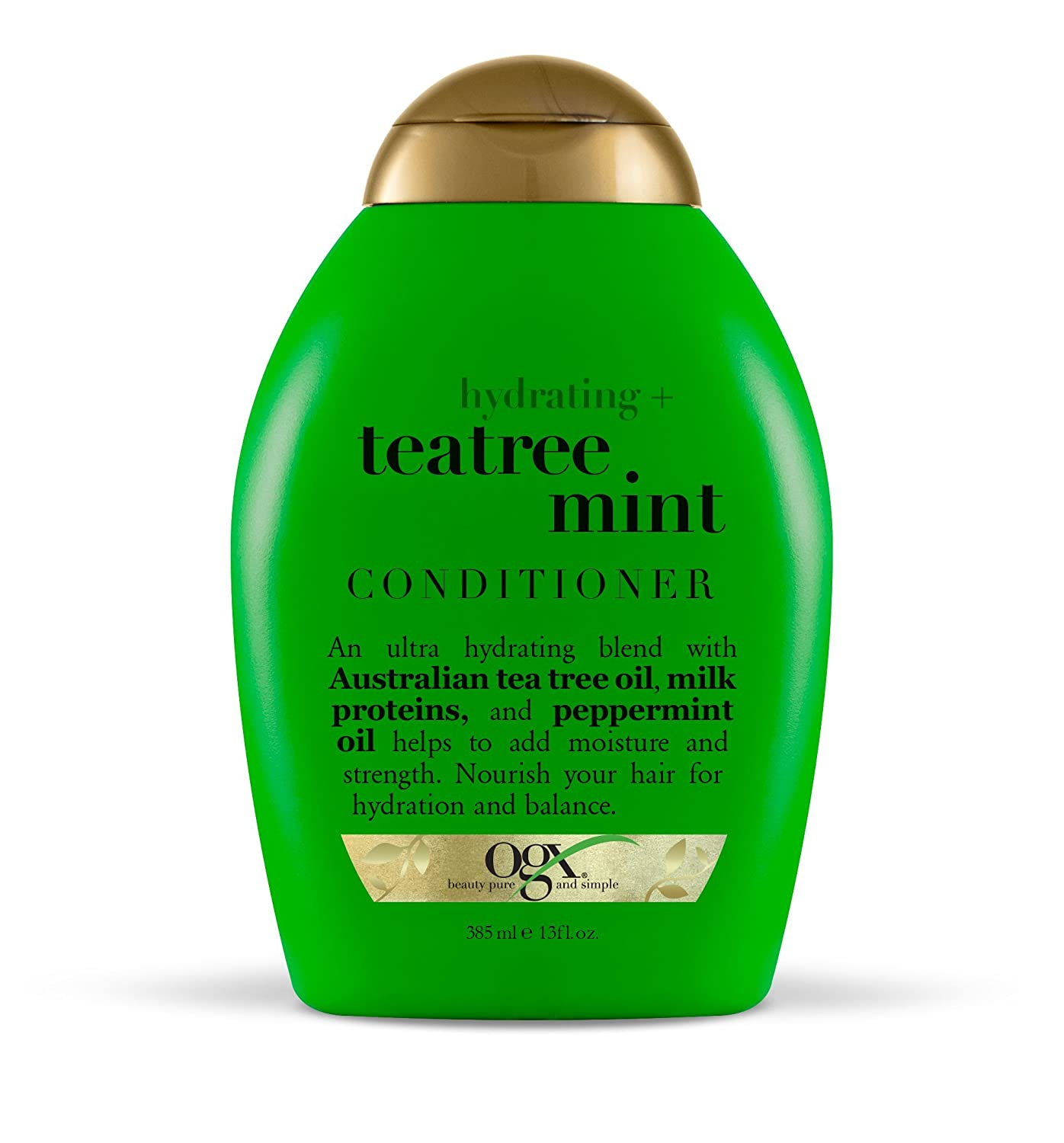 OGX Conditioner, Hydrating TeaTree Mint, (1) 13 Ounce Bottle, Hydrating and Nourishing Conditioner with Australian Tea Tree Oils, Paraben Free, Sustainable Ingredients
