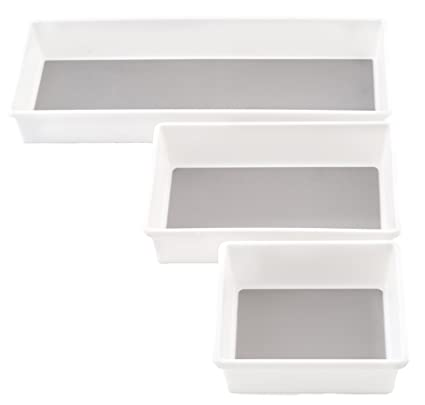 KD Organizers Drawer Organizer Trays for Kitchen or Desk Set of 3 Plastic Containers  sc 1 st  Amazon.com & Amazon.com: KD Organizers Drawer Organizer Trays for Kitchen or Desk ...