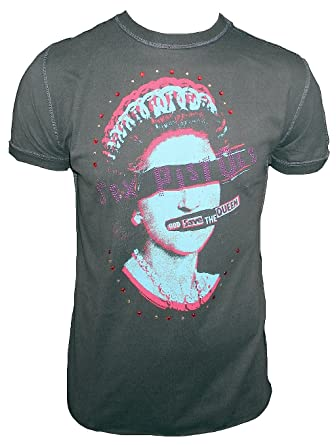 a2ddb6105be4a Amplified - Camiseta para hombre gris antracita Official Sex Pistols God  Save the Queen brillantes Vintage  Amazon.es  Ropa y accesorios