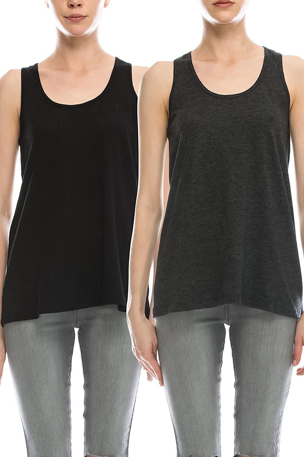 EttelLut Cotton Loose Fit Tank Tops Relaxed Athletic Workout Flowy for Women MP9717