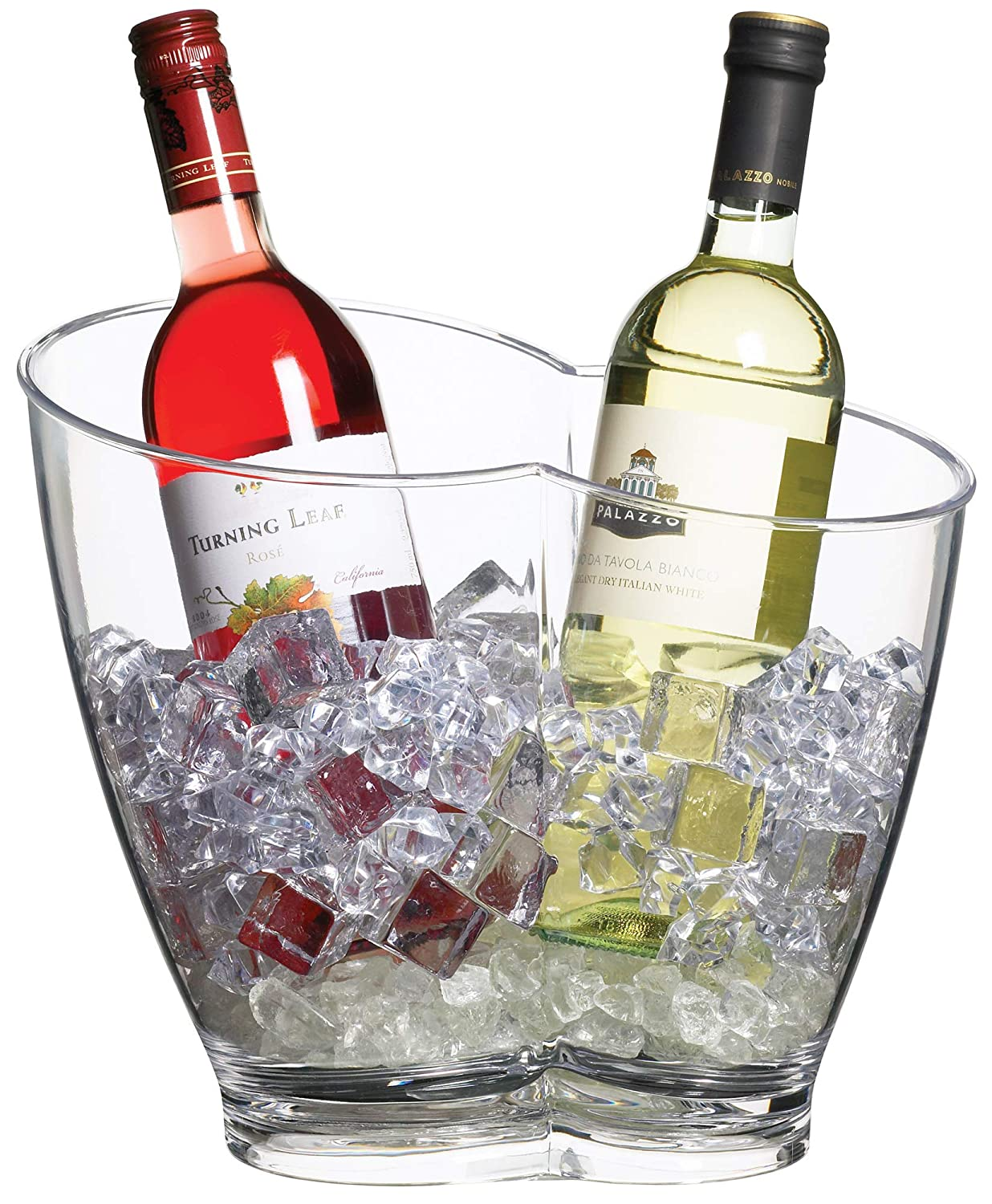 KitchenCraft BarCraft Wine Cooler Bucket, Plastic, 16 litres-Double-Sided Design, Acrylic Kitchen Craft KCBCPAILDBL