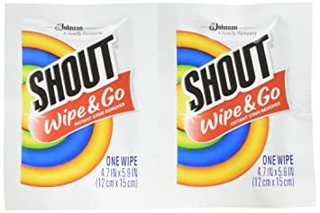 Shout toallitas quitamanchas instantáneo Towelette (80 Count): Amazon.es: Hogar