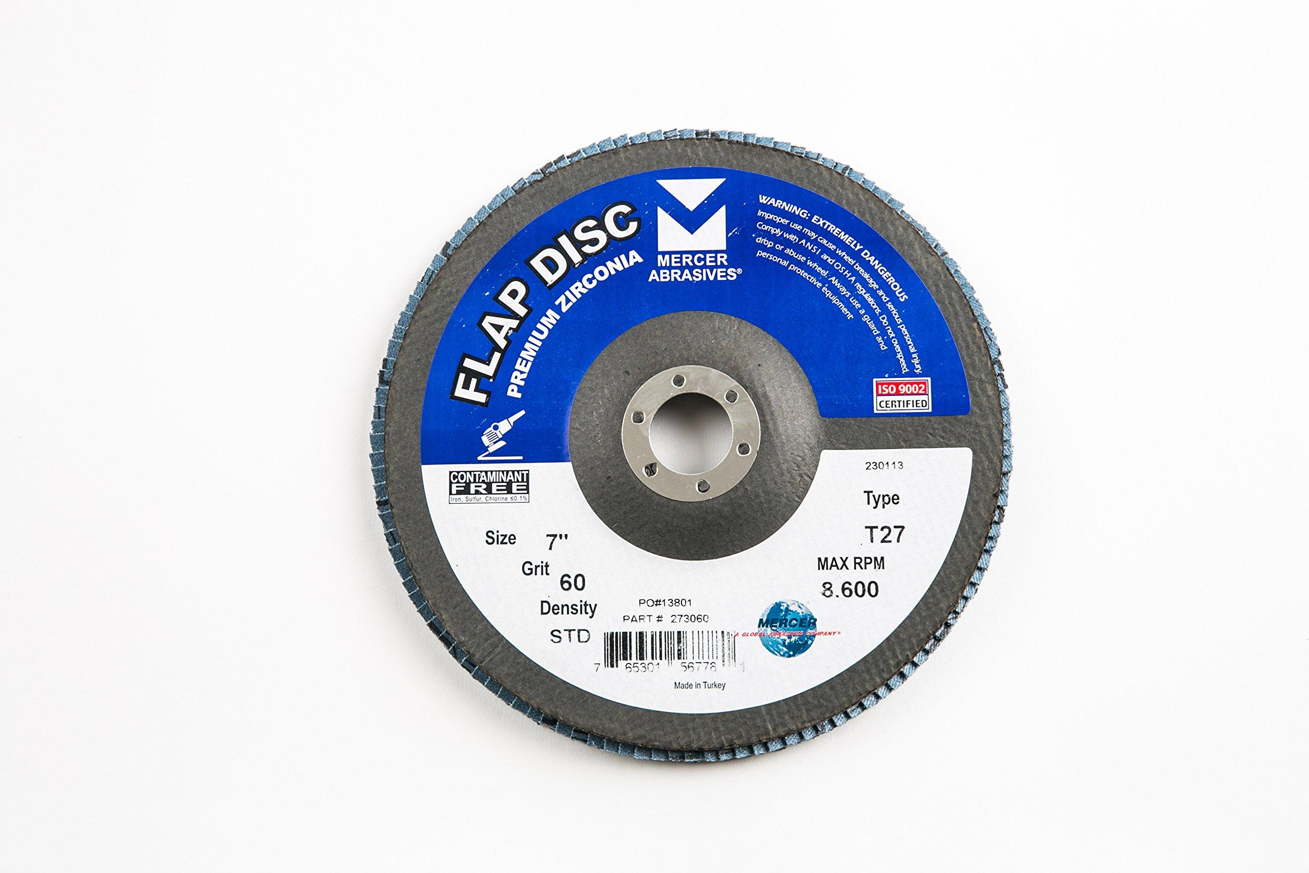 Mercer Industries 273060 Zirconia Flap Disc, Type